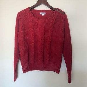 St. John's Bay Red Sweater